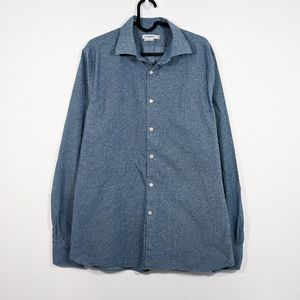 J. Lindeberg Slim Fit Long Sleeve Button Down Top